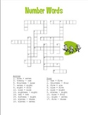 Add and Subtract - Number Words 1 -20 Cross Word Puzzle Fun!