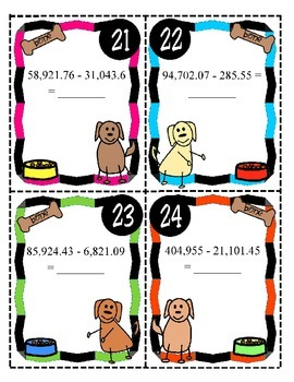 Add and Subtract Numbers With and Without Decimals (TEKS 4.4A)