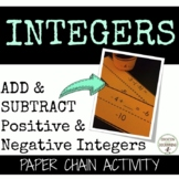 Add and Subtract Integers Activity Paper Chain