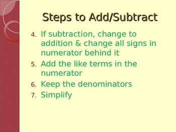 Add and Subtract Rational Expressions