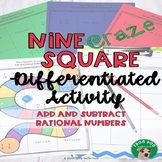 Add and Subtract Rational Numbers Nine Square Craze
