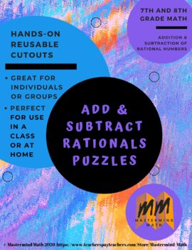 Add and Subtract Rationals Puzzle Rockets