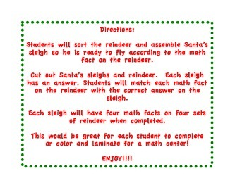 Add and Subtract Santa's Sleigh