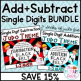 Add and Subtract Single Digits like a Judo Master: BUNDLE