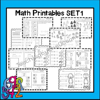 Add and Subtract Small Numbers - Math Printables Set 1