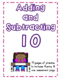 Add and Subtract Ten