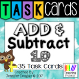 Add and Subtract Ten - Task Cards