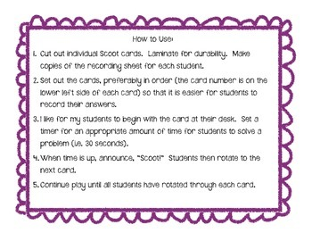 Add and Subtract Through 20 Scoot! (Task Cards)