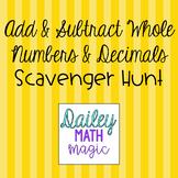 Add and Subtract Whole Numbers and Decimals TEKS 4.4A