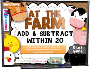 Add and Subtract Within 20 Smart Board Game