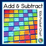 Add and Subtract 100s pocket chart activity
