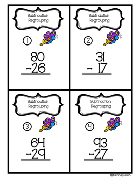 Add the Room & Subtract the Room- With Regrouping and No Regrouping