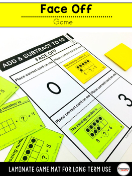 Add and Subtract to 10 Games and Centers Kindergarten