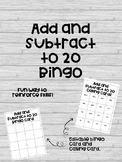 Add and Subtract to 20 Bingo!