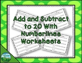 Add and Subtract to 20 with Numberlines Worksheets