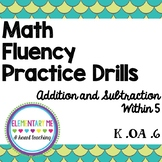 Add and Subtract to 5 Fluently