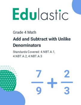 Add and Subtract with Unlike Denominators