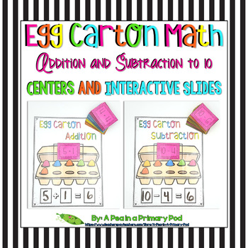 Add and Subtract within 10 (Egg Carton Math Centers and In