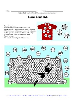 Add and Subtract within 1000.  Games and Worksheets.