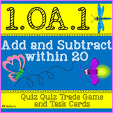 Addition and Subtraction within 20 Task Cards and Quiz Qui