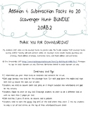Add and Subtract within 20 Scavenger Hunt BUNDLE