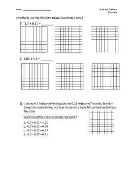 Add and Subtracting Decimals