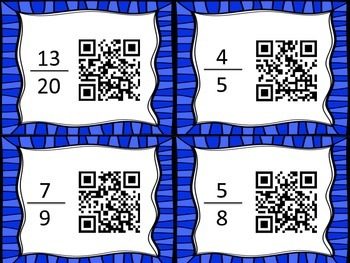 Add and Subtract Fractions Scavenger Hunt - with QR codes