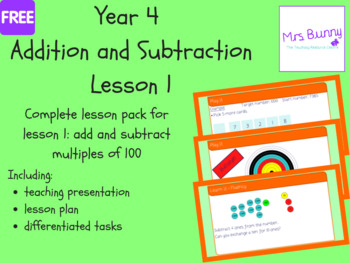 Add and subtract 1s, 10s, 100s, 1000s lesson (Year 4 Addition and Subtraction)