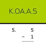 K.OA.A.5: Add and subtract within 5 (50 worksheets)