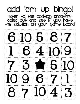 Add 'em Up Bingo!