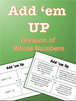 Add em Up - Division of Whole Numbers