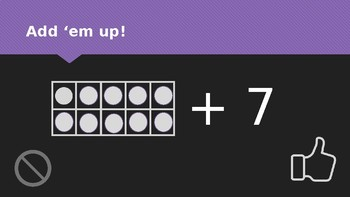 Add 'em up! Ten frame +7