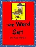 Add -es Word Sort