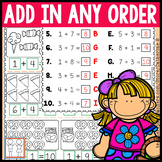 Add in Any Order Worksheets 1st Grade