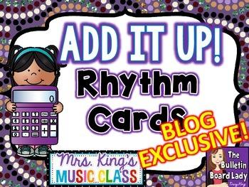 Add it Up Rhythm Cards - BLOG EXCLUSIVE