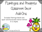 Add on Flamingos and Pineapple Classroom Decor