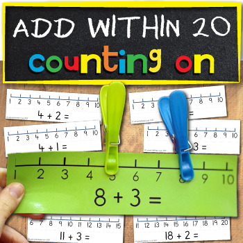 Add on a numberline within 10 and 20
