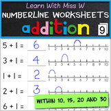 Add on a numberline worksheets