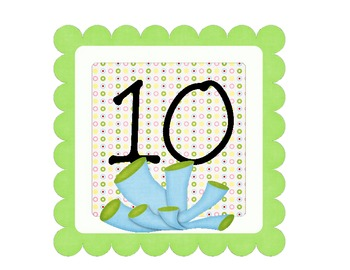 Add on to Ocean Theme- Table Signs for 7-10