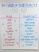 Add or Subtract Anchor Chart