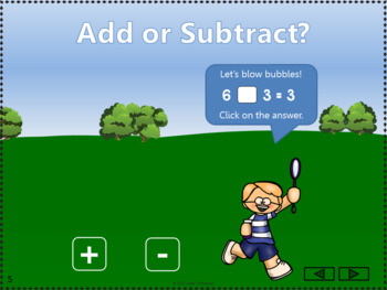 Add or Subtract Bundle Interactive Math Games {bubbles}