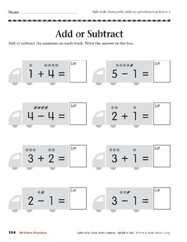 Add or Subtract (Take It to Your Seat Centers Common Core Math)