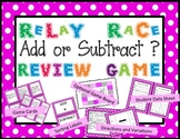 Add or Subtract Word Problem Relay Race Review Game
