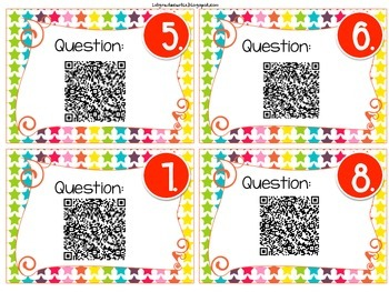 Add or Subtract?  Word problems QR code Scavenger hunt