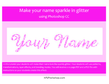 Make your name sparkle in glitter using Photoshop CC