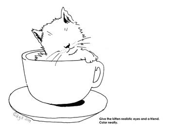 Add the Eyes Kitten Drawing Starter