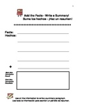 Add the Facts-Write a Summary! A Graphic Organizer in English,Spanish,Chinese