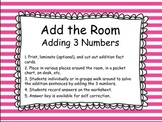 Add the Room Adding 3 Numbers Activity