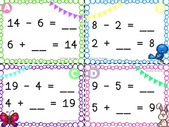 Add the Room {{April Edition}} ~ Using Addition to Subtract!