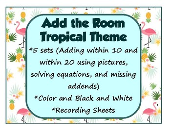 Add the Room Math Around the Room Tropical Theme